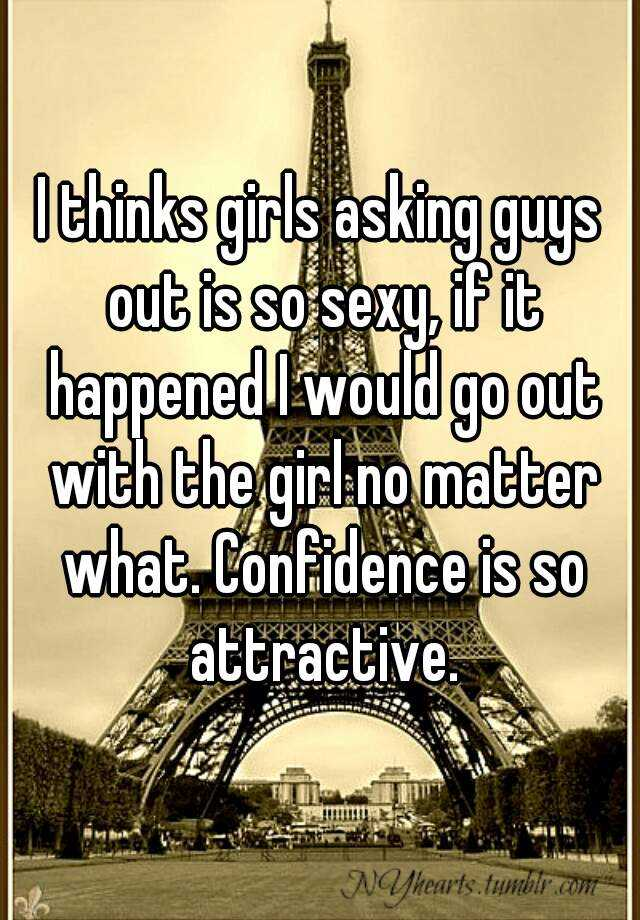 Girls asking boys out