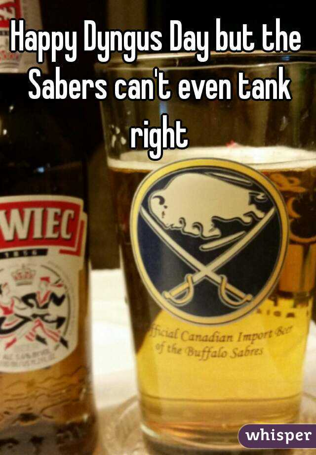 Happy Dyngus Day but the Sabers can't even tank right
