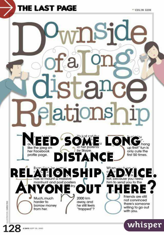 Need some long distance relationship advice.  Anyone out there?