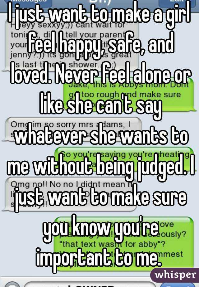 what to say to make a girl happy