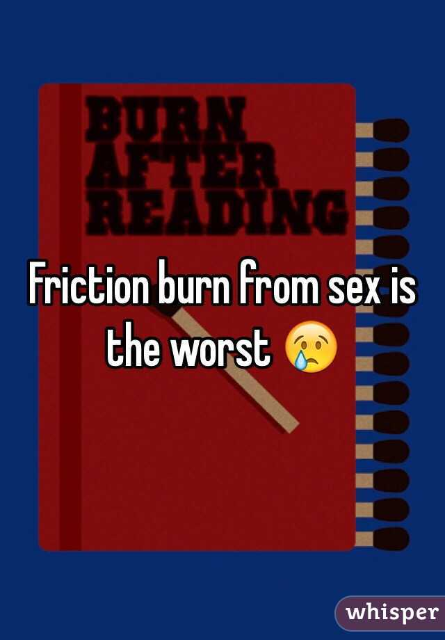 Visible, friction burn from sex