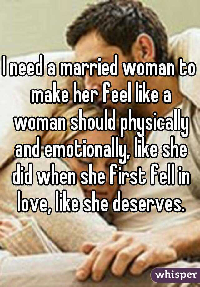 I need a married woman