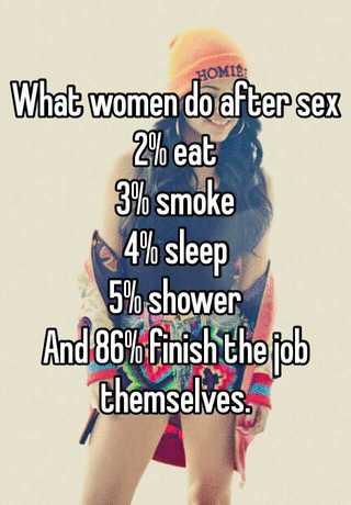 why do women sleep after sex