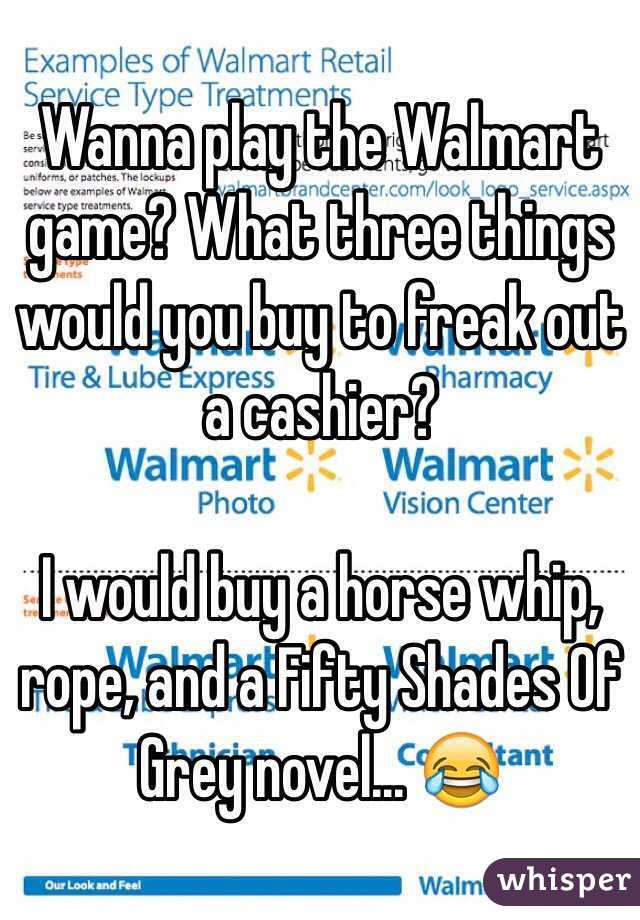 Things To Buy At Walmart To Freak Out The Cashier