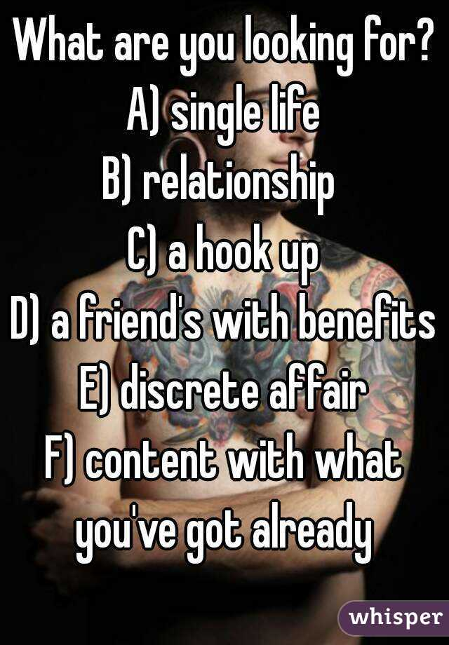 What Kind Of Relationship Are You Looking For
