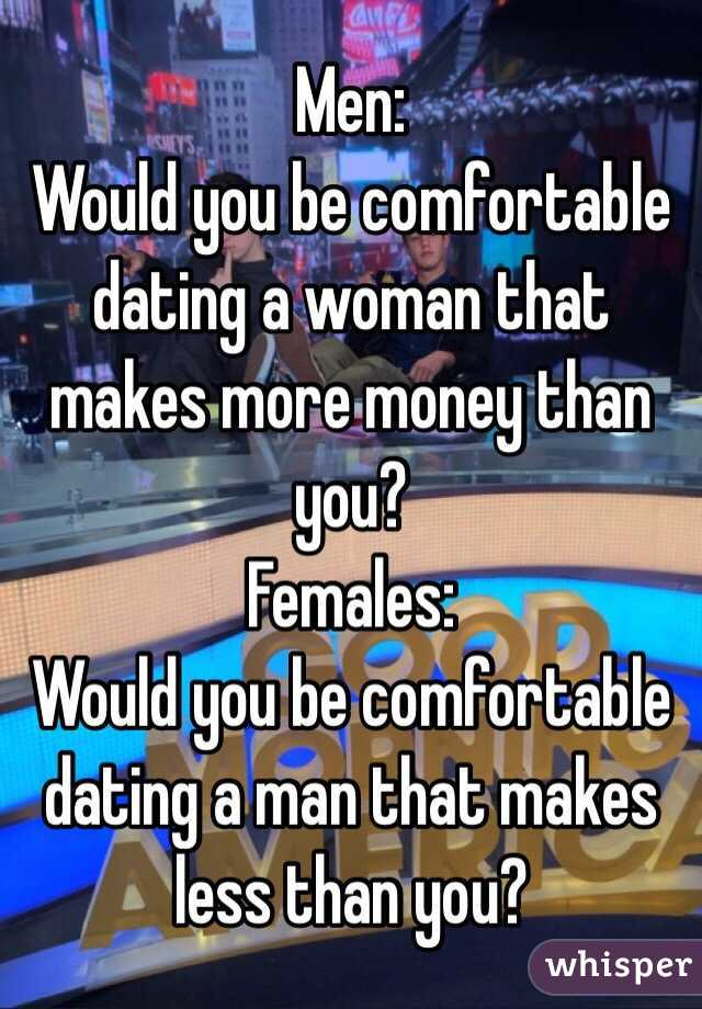 Less Man Makes Money Dating Who A