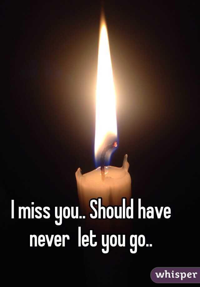 I miss you.. Should have never  let you go..