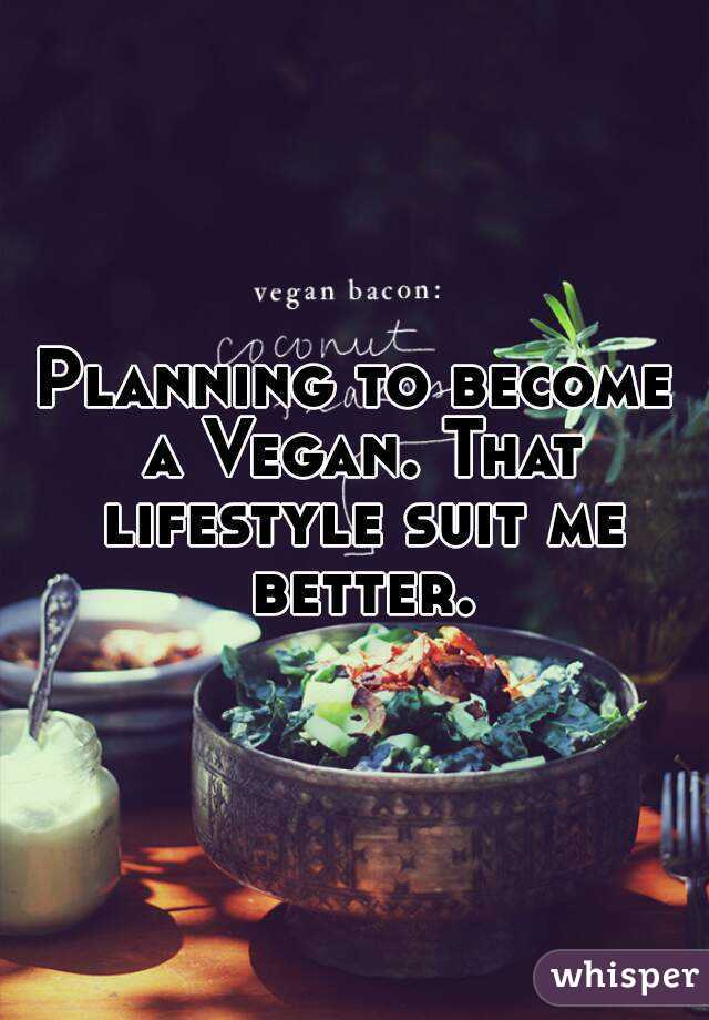 Planning to become a Vegan. That lifestyle suit me better.