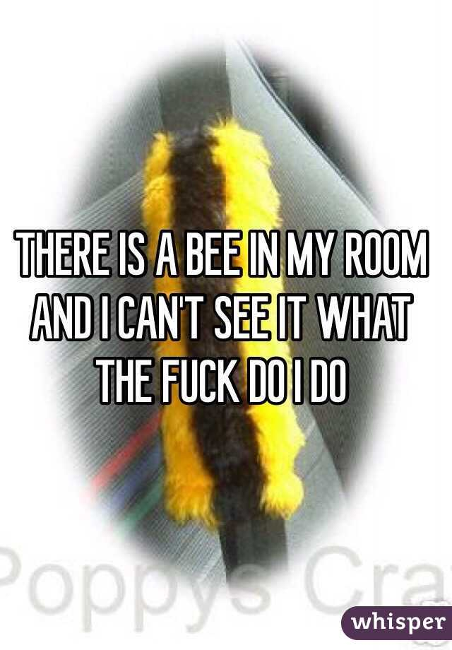 THERE IS A BEE IN MY ROOM AND I CAN'T SEE IT WHAT THE FUCK DO I DO