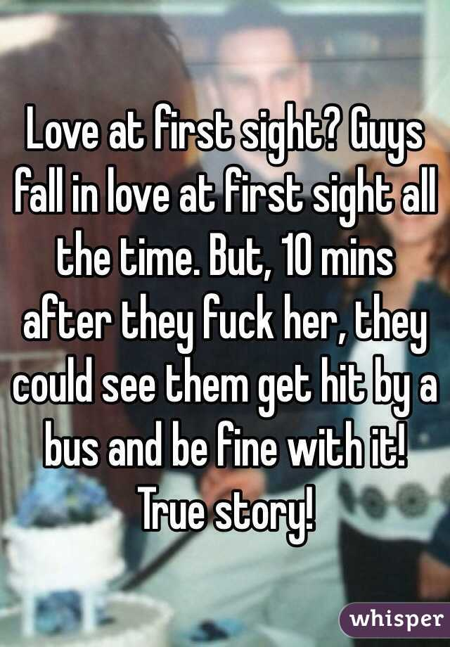 Do guys fall in love at first sight
