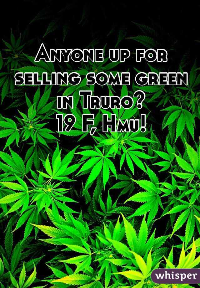 Anyone up for selling some green in Truro?  19 F, Hmu!