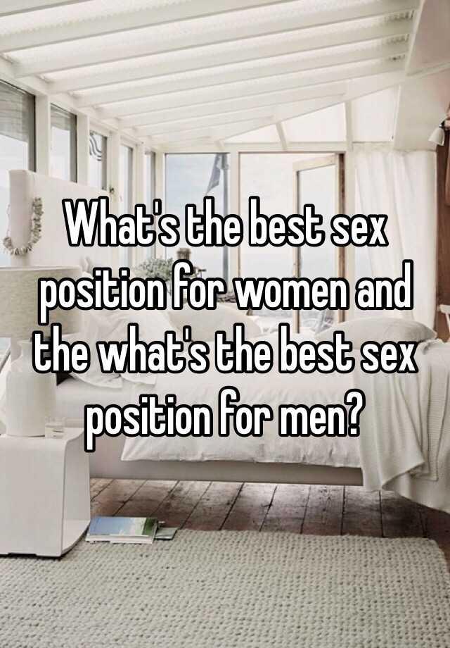 Best sexual position for men