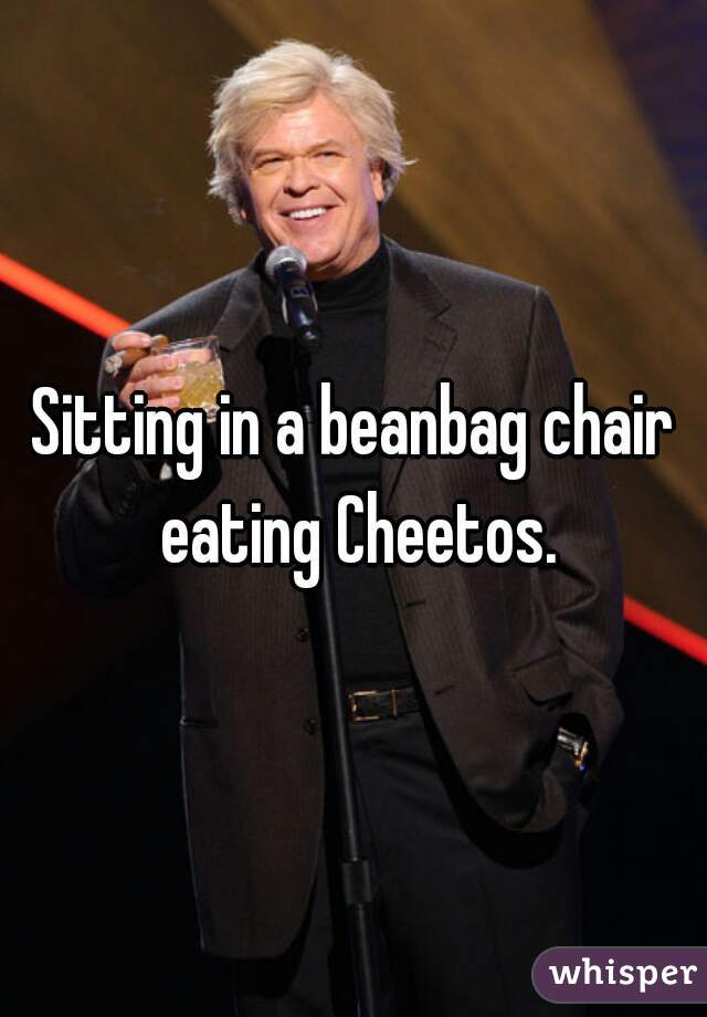 Astonishing Sitting In A Beanbag Chair Eating Cheetos Cjindustries Chair Design For Home Cjindustriesco