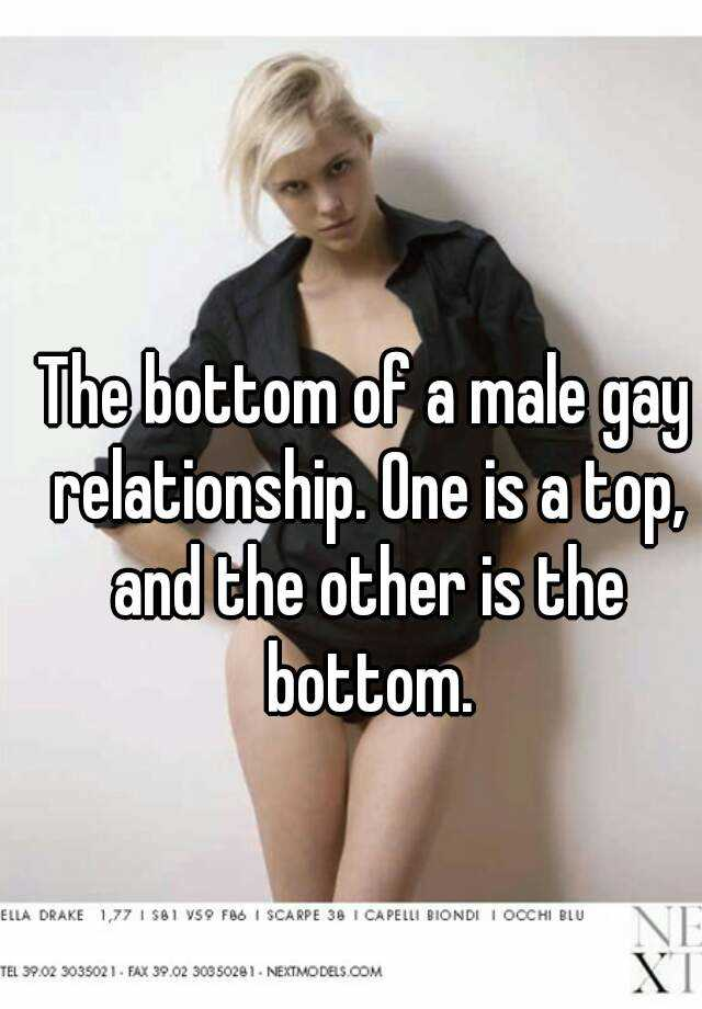 Top in gay relationship