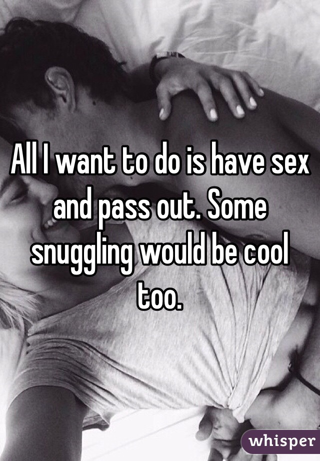 Can you pass out from sex