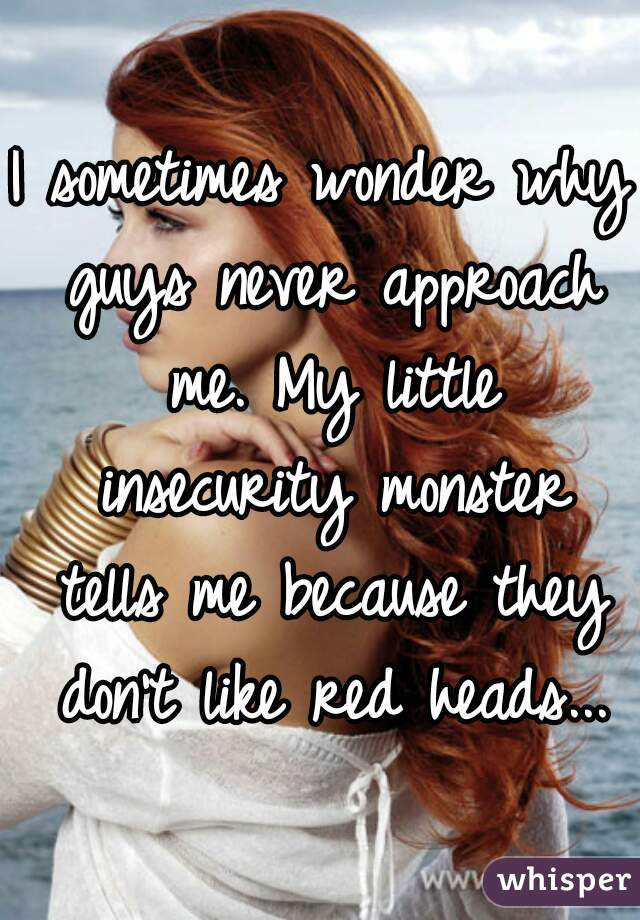 I Sometimes Wonder Why Guys Never Approach Me My Little Insecurity Monster Tells Me Because They