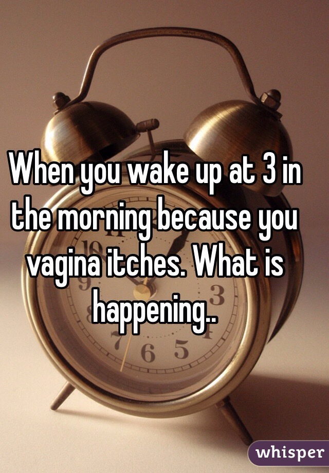 When you wake up at 3 in the morning because you vagina itches. What is happening..