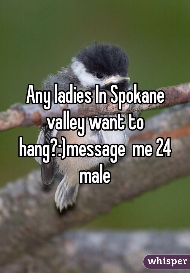 Any ladies In Spokane valley want to hang?:)message  me 24 male