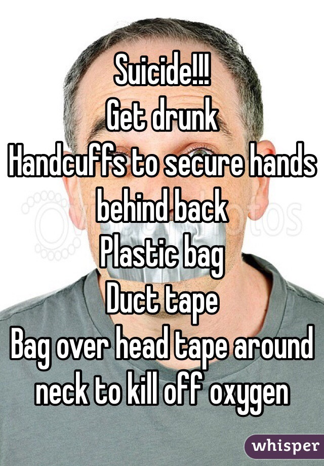plastic bag over head