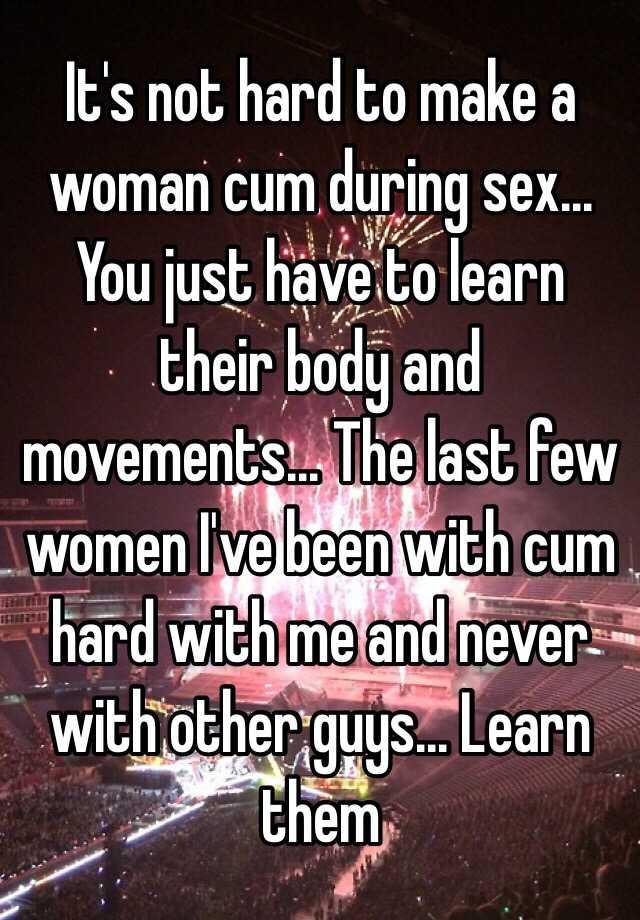 How to make a woman cum hard