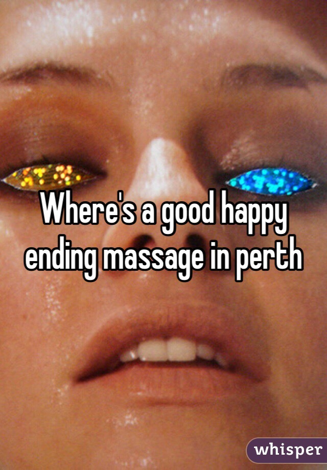 Perth massage happy ending