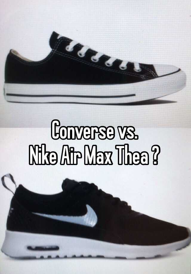 converse shoes vs nike