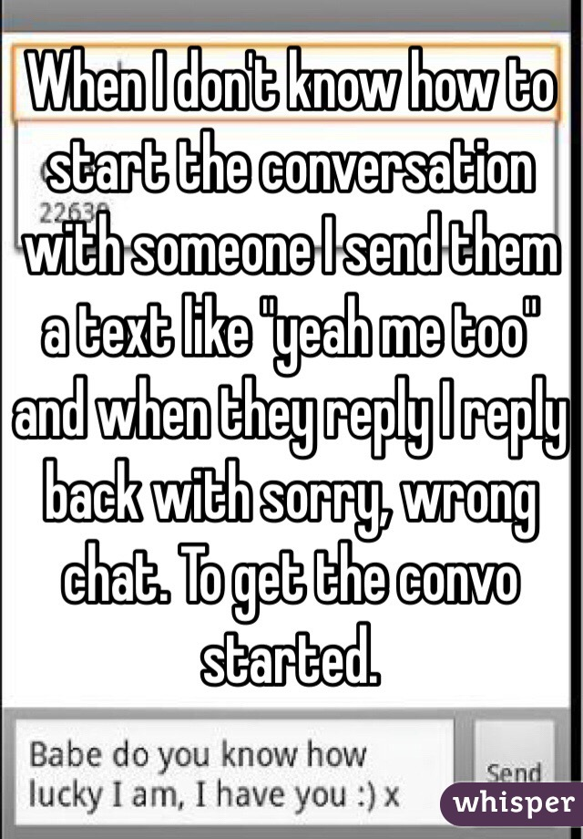 How to start a conversation with someone