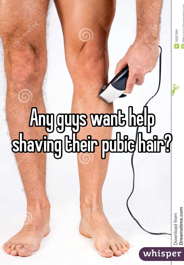 Men shave pubic