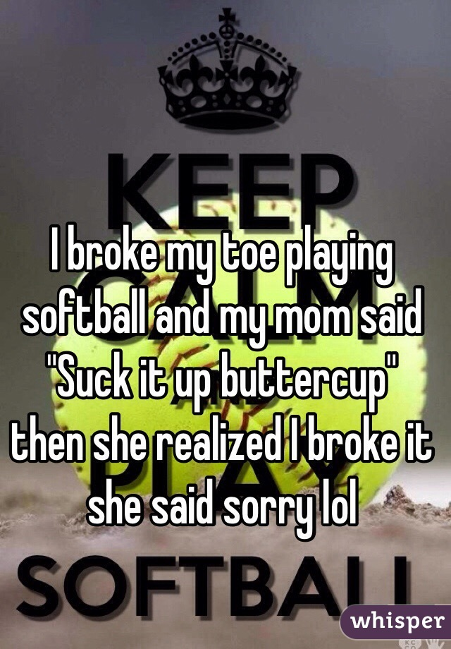 Sotball toe lick