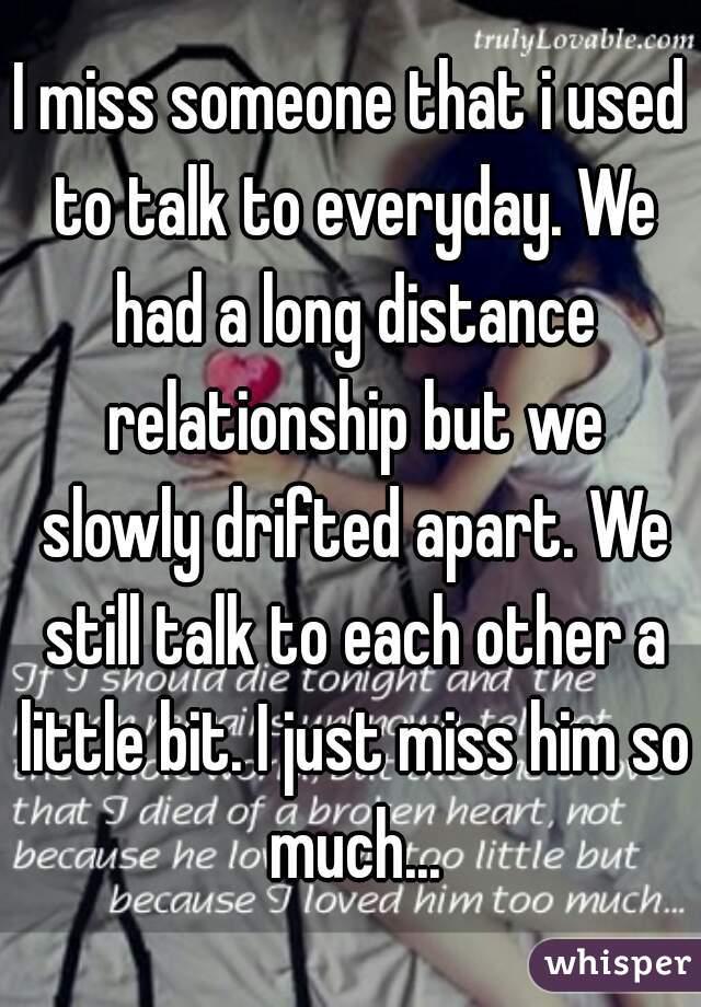Relationship drifting apart