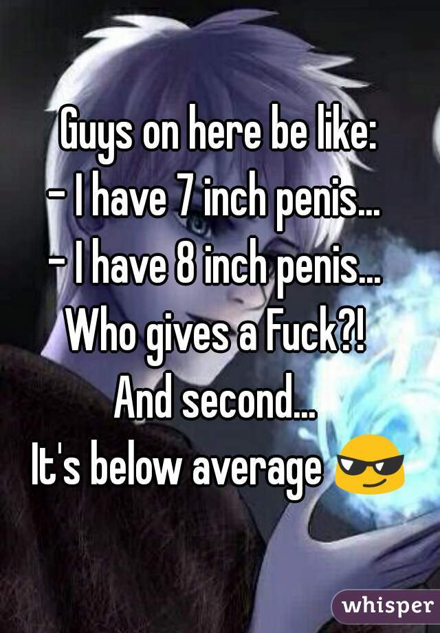 Is A 7 Inch Dick Small