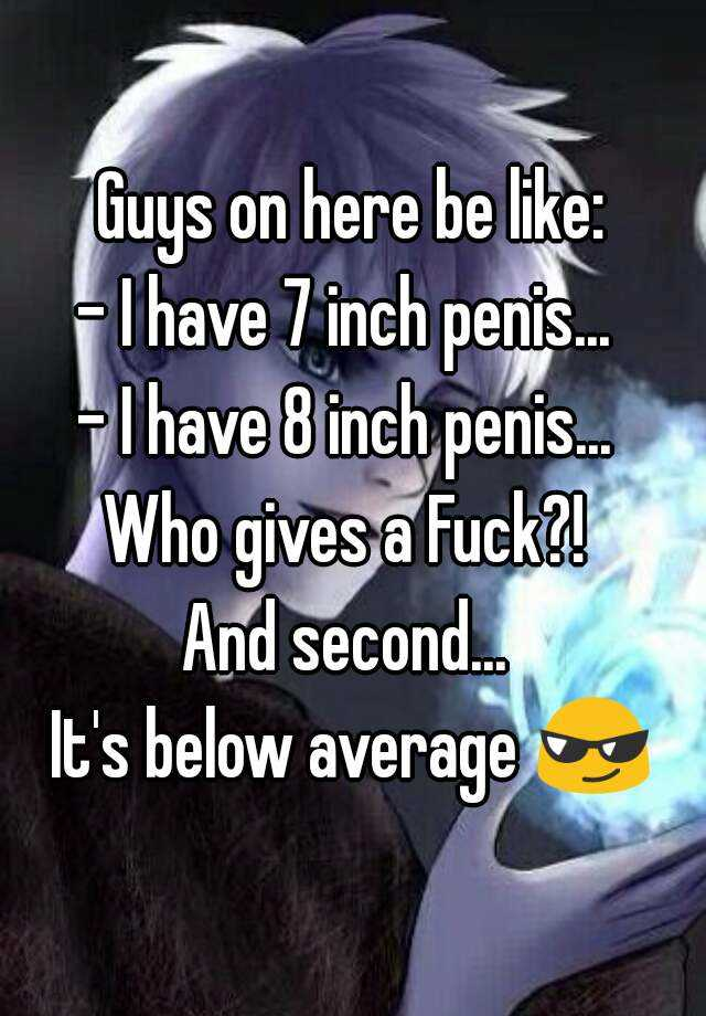 My 8 Inch Penis