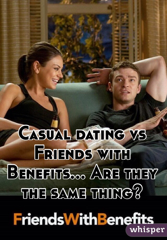 Casual friends with benefits