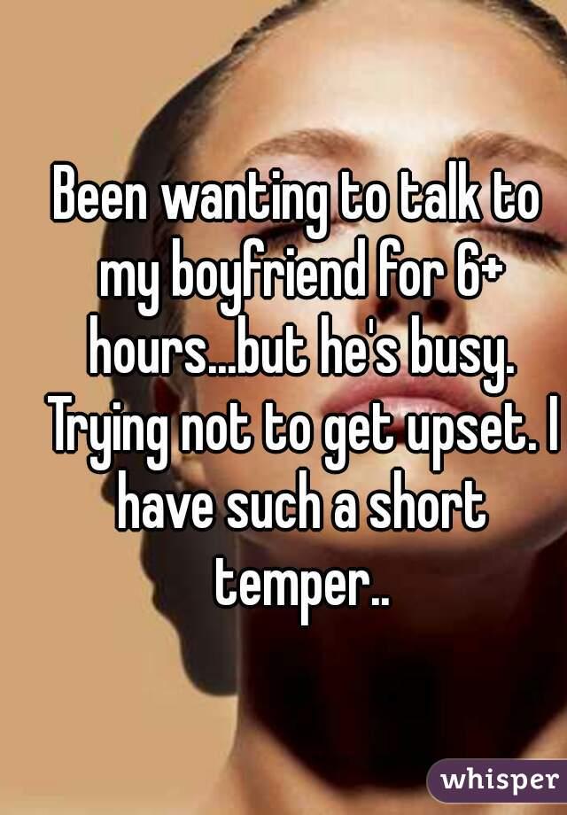 Short tempered boyfriend