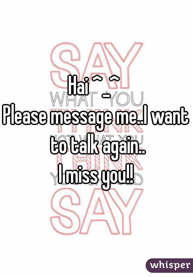 please message me