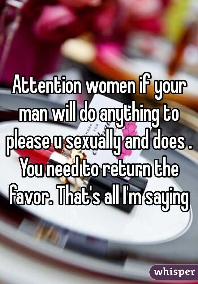 Please Your Man Sexually