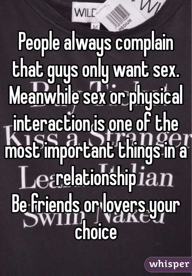 Relationship In That A Things Are Important