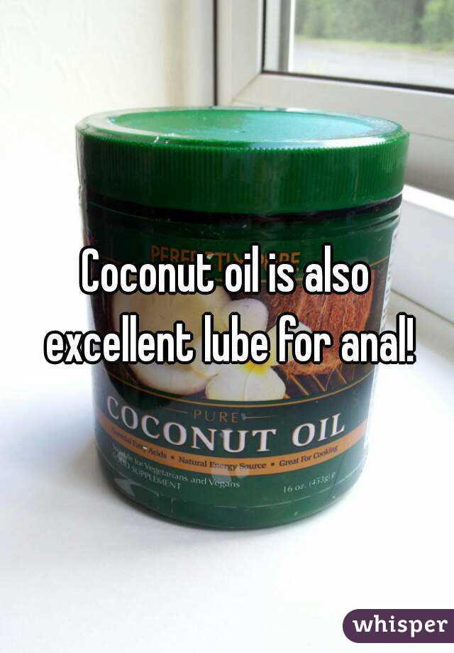 あなたは肛門の潤滑油としてココナッツオイルを使用できますか?