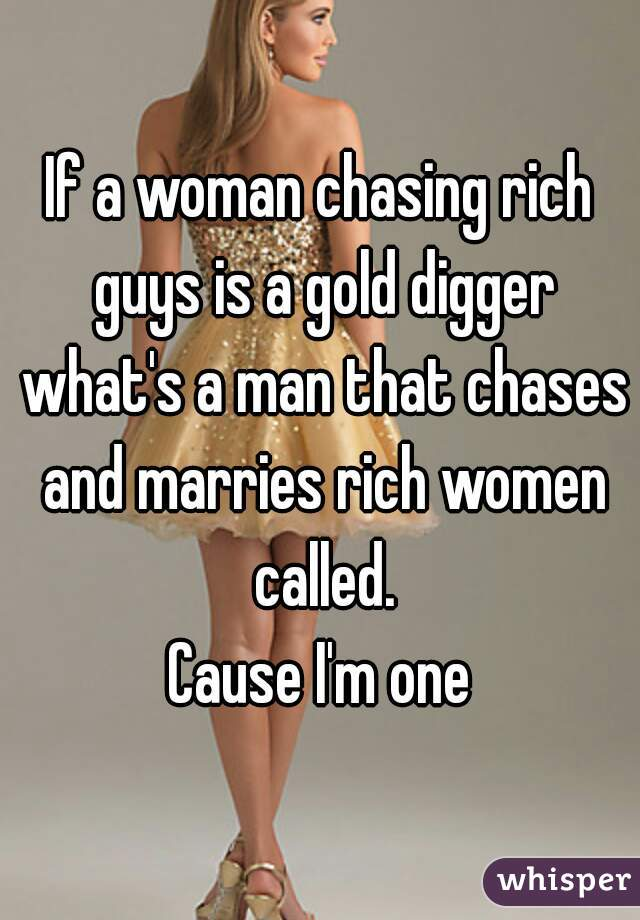 What Is A Male Gold Digger Called