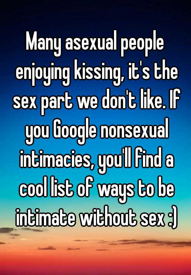 ways to be intimate without sex