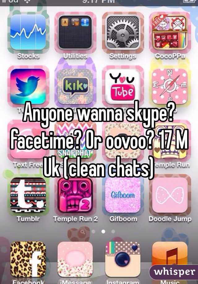 Anyone want to oovoo
