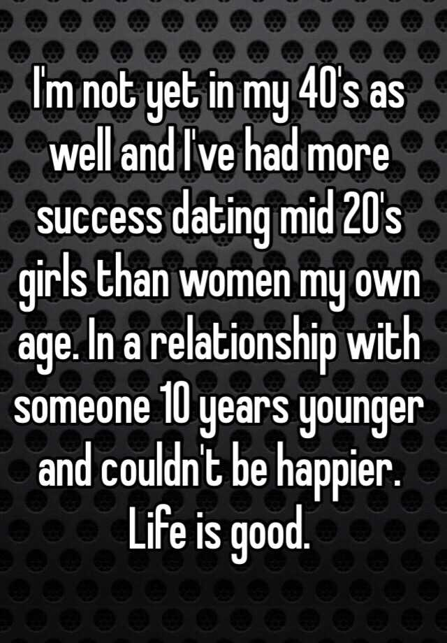 dating someone 10 years younger