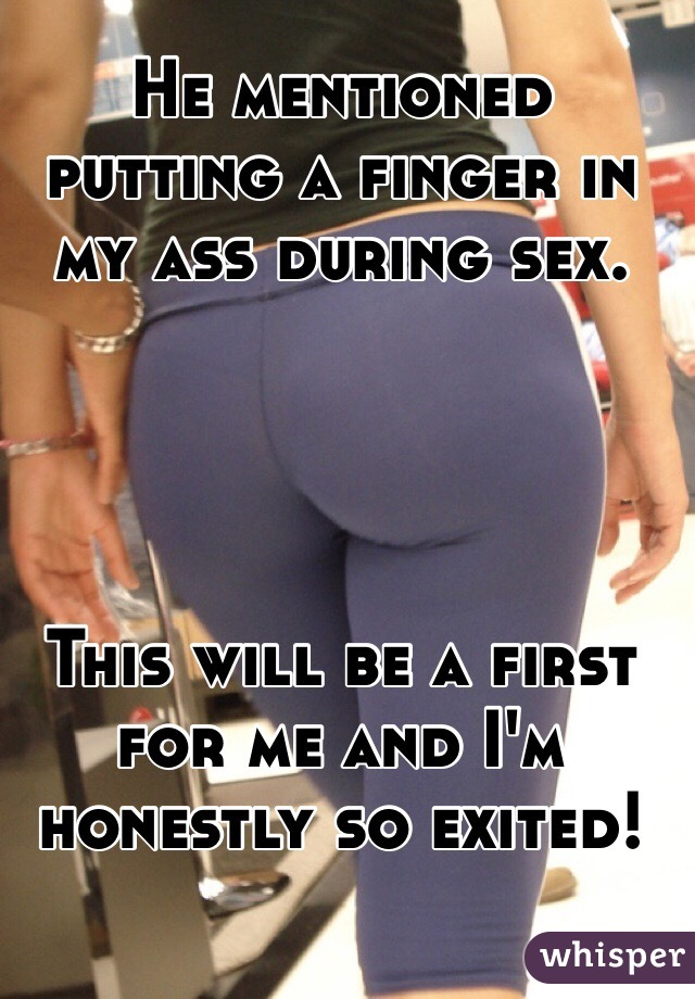 Finger my ass