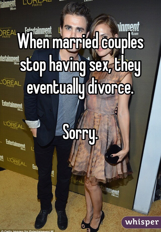 Why do married couples stop having sex