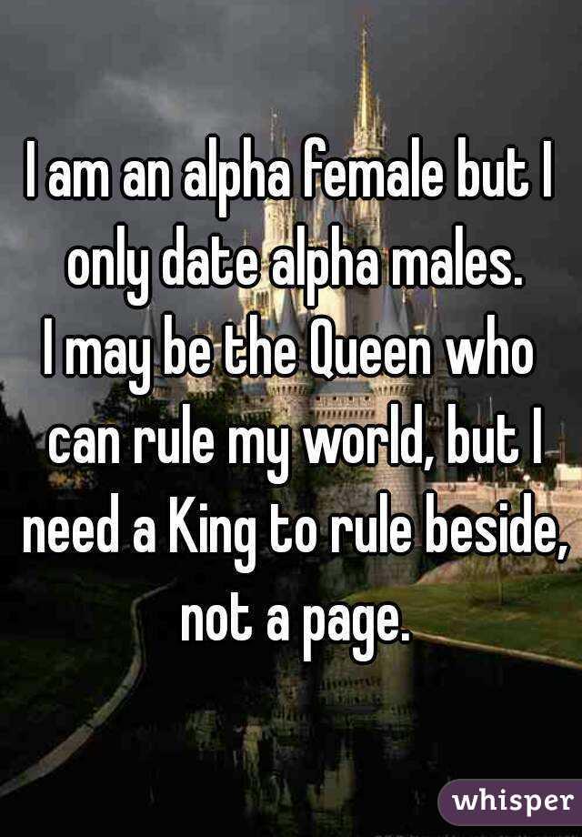 Alpha female dating alpha male