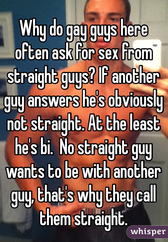 How to ask for gay sex