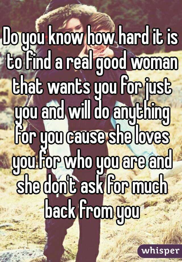 Finding a woman who loves you