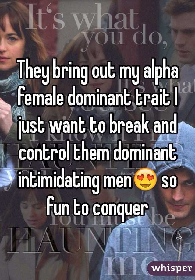 Dominant alpha female