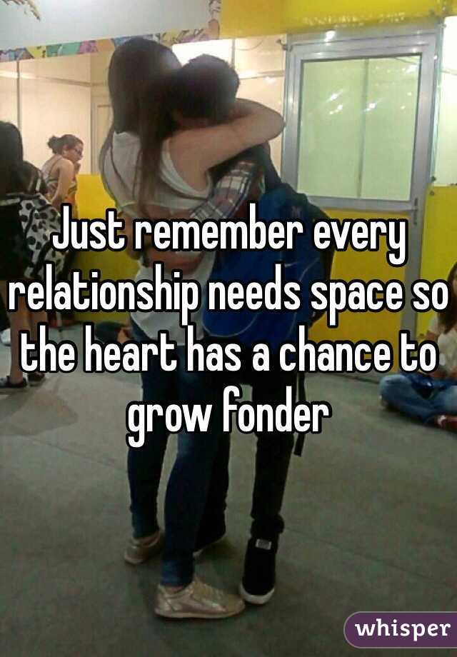 i need space in my relationship