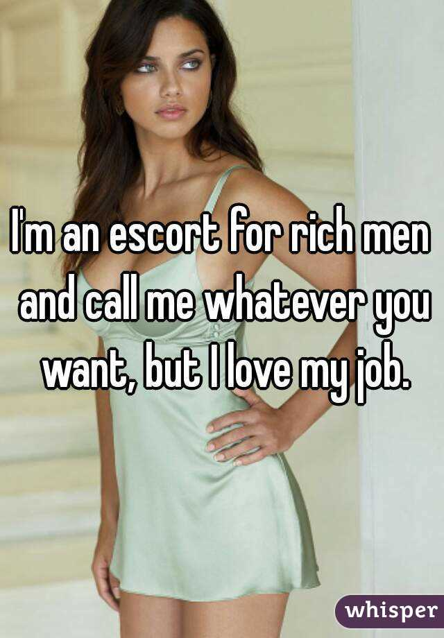 Escort for rich men
